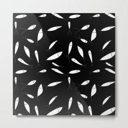 Fish pattern black Metal Print