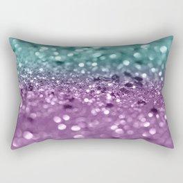 Aqua Purple MERMAID Girls Glitter #2 #shiny #decor #art #society6 Rectangular Pillow