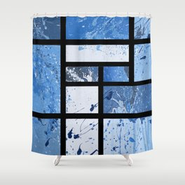 Movin with Pollock, Mondrian & Haring  Shower Curtain