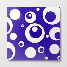 Circles Dots Bubbles :: Blueberry Metal Print