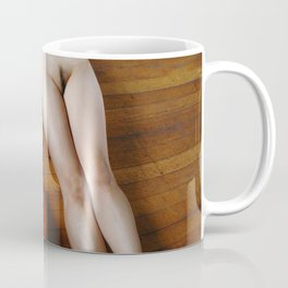 0137-JC Nude Cellist with Her Cello and Bow Naked Young Woman Musician Art Sexy Erotic Sweet Sensual Coffee Mug