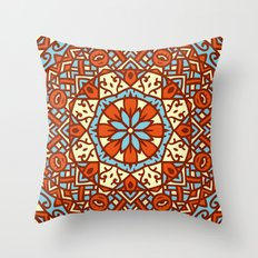 Abstract Mandala Flower Decoration 30 Throw Pillow