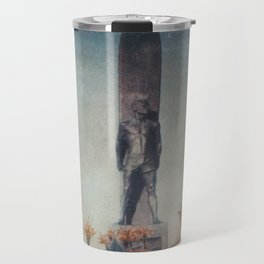 Painted Statuesque Surfer Travel Mug