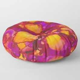 Happy spring - Alcohol ink drawing Floor Pillow