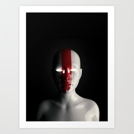 Red Face — 04 Art Print