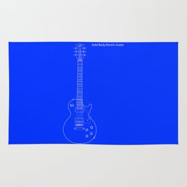 Solid Body Electric Guitar Blueprint Rug