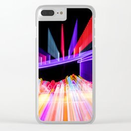 Moving Out zoom burst photograph Fremont Theater San Luis Clear iPhone Case