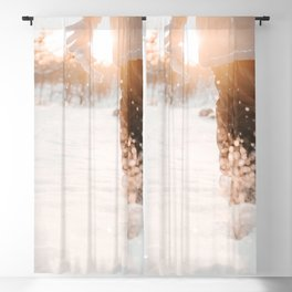 Atmospheric Backlight Winter Photo | Winter Photography | Golden Hour In Snow Blackout Curtain