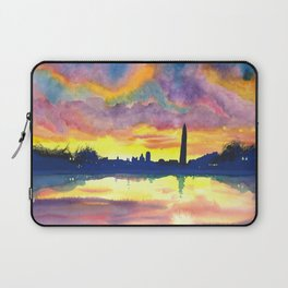 Sunset at the Monument Laptop Sleeve