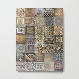 Roman Mosaic Montage Metal Print