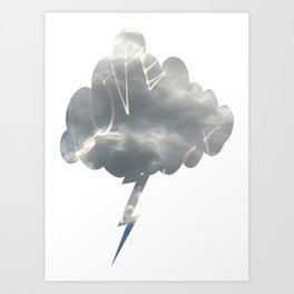Love Lightning Cloud  Art Print