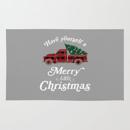 Have yourself a Merry little Christmas Vintage Truck Rug