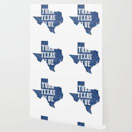 Turn Texas Blue Distressed Vintage - Beto Wallpaper