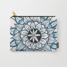 Green and Black Flower Mandala Carry-All Pouch