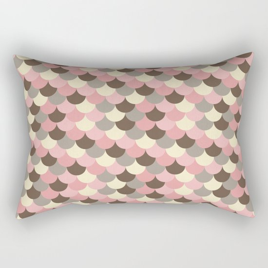 Strawberry Mouse Fish Scale Pattern Rectangular Pillow