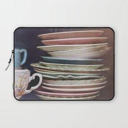 Vintage teacups, saucers and books Laptop Sleeve