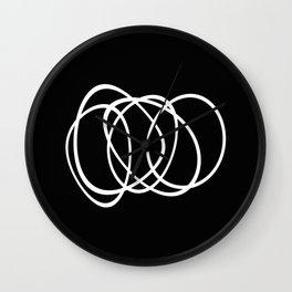 Mid Century Black And White Minimalist Design Wall Clock