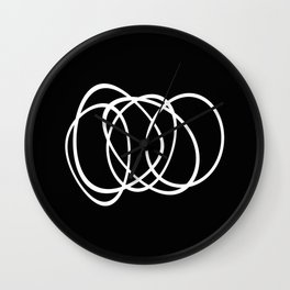 Mid Century Black And White Minimalist Design Wall Clock