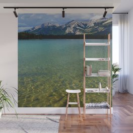 The Collin Range as seen from Lake Edith in Jasper National Park Wall Mural