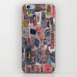 20th Century through stamps iPhone Skin