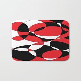 Black, white and red ellipticals Bath Mat