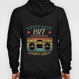 Vintage 1977 Radio Authentic Quality B-Day Gift Hoody