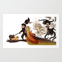 Hades' Happy Family Art Print