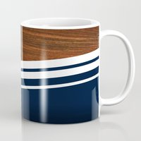 navy Mugs featuring Wooden Navy by Nicklas Gustafsson