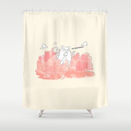 Monster Cat Shower Curtain