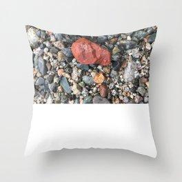 Little Rocks from the Beach Throw Pillow