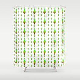 Christmas tree 7 Shower Curtain