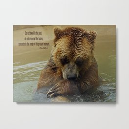 In Deep Thought   - Grizzly Bear Metal Print