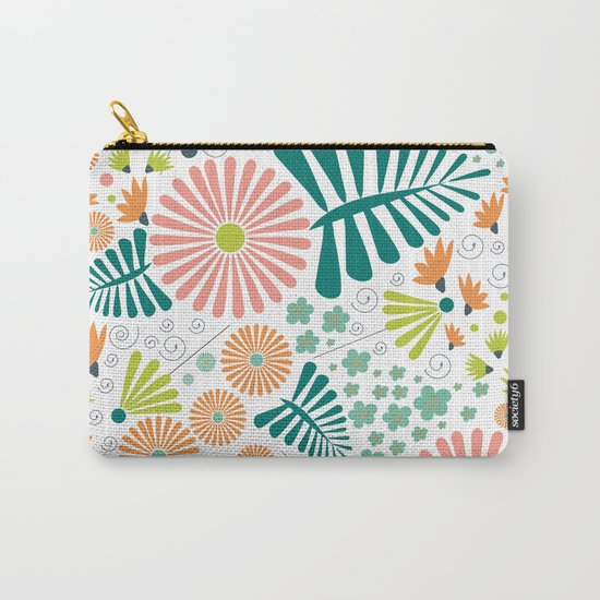 Whimsical flowers Carry-All Pouch