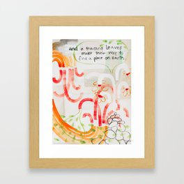 And A Thousand Leaves Make Their Way (No.12) Framed Art Print