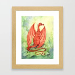 Vermillion Dragon Framed Art Print