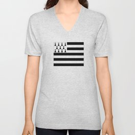 Flag of brittany Unisex V-Neck