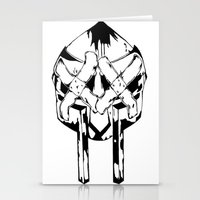 mf doom Stationery Cards featuring Bandit Doom by ScientisTechni