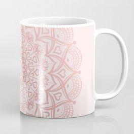 Blush Rose Pink Mandala Coffee Mug
