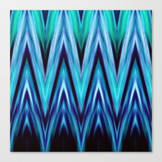 Abstract Blue Teal Zigzags Canvas Print