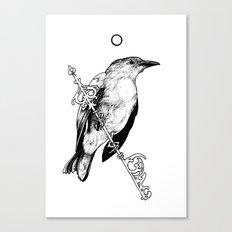 Key Bird Canvas Print