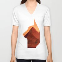 egypt V-neck T-shirts featuring Egypt by Mehdi Elkorchi