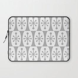 Mid Century Modern Atomic Fusion Pattern Grey Laptop Sleeve