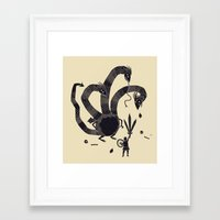 hydra Framed Art Prints featuring hydra(dark) by Louis Roskosch
