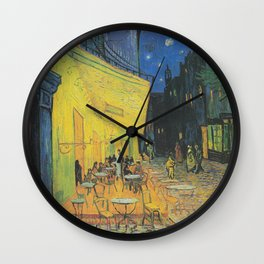 Cafe Terrace at Night by Vincent van Gogh Wall Clock