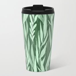 Watercolor Spring Leaves IV Travel Mug