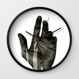 hand black Wall Clock