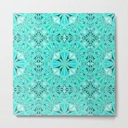 214 7 Turquoise Bohemian Wallpaper Metal Print