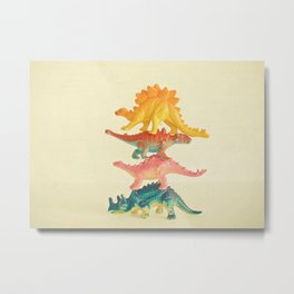 Dinosaur Antics Metal Print