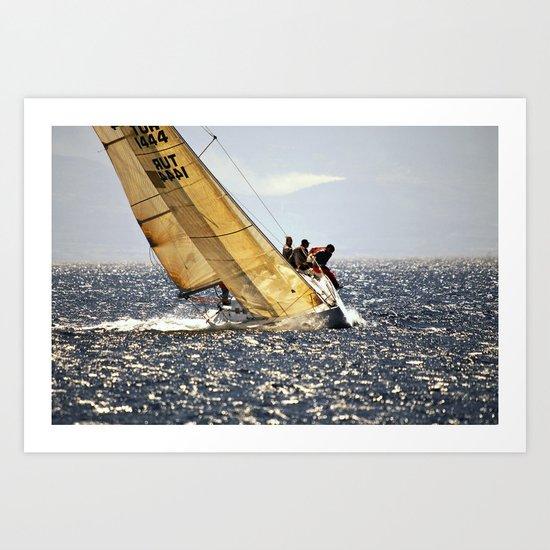 sailing racers Art Print