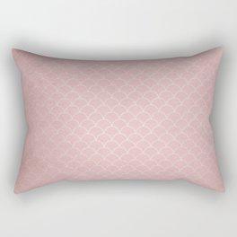 Grunge textured rose quartz small scallop pattern Rectangular Pillow